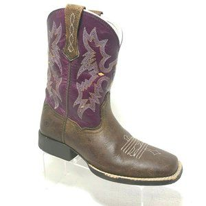 JUSTIN Girls Size 3 Cowboy Boots Tombstone Western